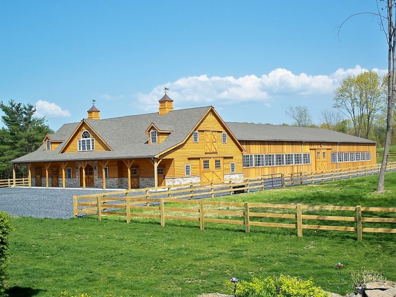 Wood Barn and Indoor Riding Arena