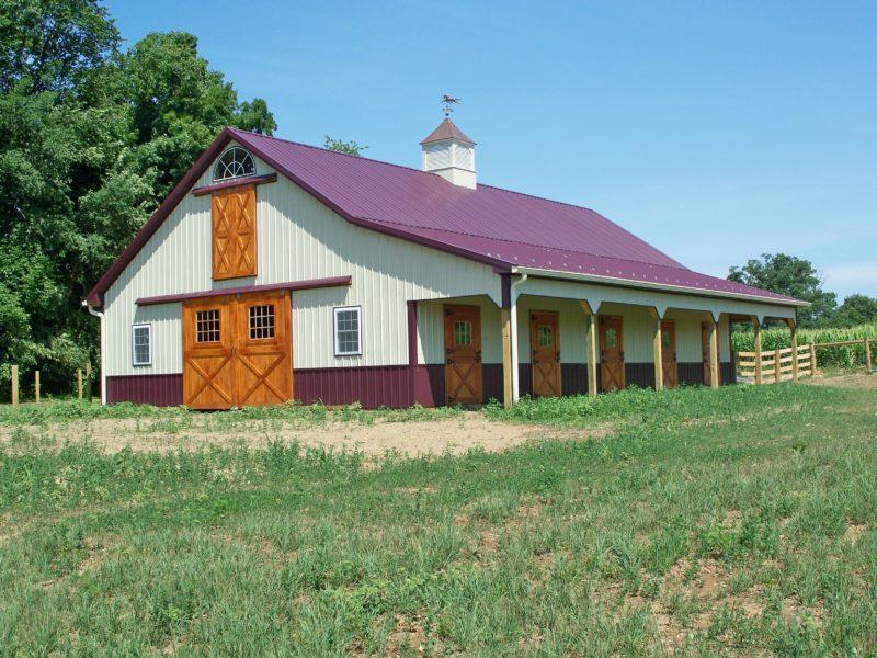 Custom Barn Lean-to Barn