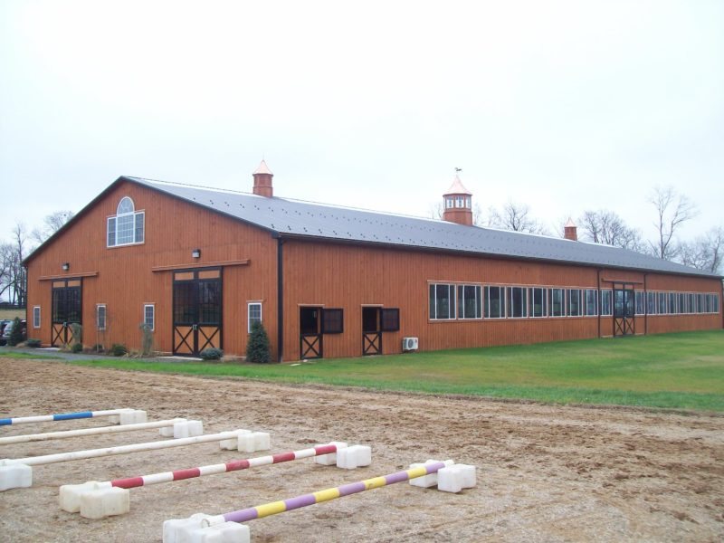 Indoor Riding Arena with Stalls